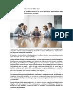 Conflictos en La Empresa - Diez Cosas Que Debes Saber