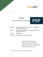 Informe Convalidación de Practica Profesional