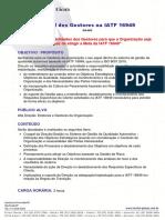 Papel Dos Gestores Na IAFT 16949