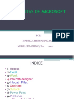 Herramientas de Microsoft Office Isa