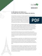 Acordo de Paris e Futuro Do Uso Da Terra