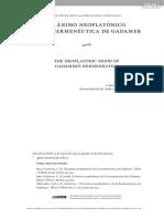 Neoplatismo de Gadamer