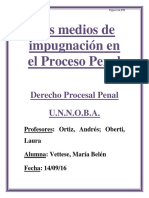 Los Medios de Impugnación en El Proceso Penal
