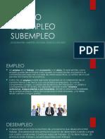 EMPLEO DESEMPLEO SUBEMPLEO