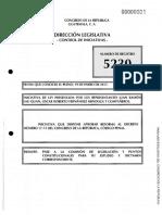 Iniciativa de Ley No. de Registro 5230