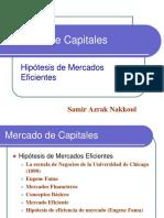 Hipotesis Mercados Eficientes