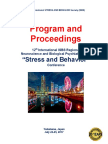 """Program and Proceedings - 12th International Neuroscience and Biological Psychiatry Regional ISBS Conference """"STRESS AND BEHAVIOR"""
