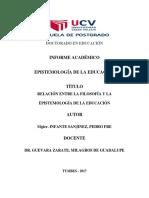 Infante Pedro Informe Académico