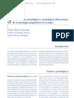 Fundamentos psicolo¦ügicos y sociolo¦ügicos diferenciales de la patologi¦üa psiquia¦ütrica en la mujer