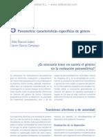 Psicometri¦üa. Caracteri¦üsticas especi¦üficas de ge¦ünero