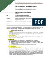 INFORME ACADÉMICO INDIVIDUAL Nº 004 – 2017 - I