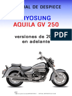 Hyosung Aquila 250GV - Manual de Despiece - Ingles