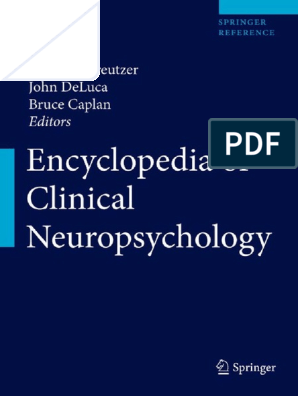 Encycl in Neuro Psy | Clinical Psychology | Psychology
