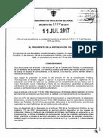 Decreto 1177 Del 11 de Julio de 2017 Modificación Semana Receso Estudiantil