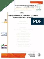 Aprovechamiento de La Energia Solar Para La Extraccion de Agua Potable