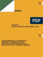 CONTRATOS - DERECHO MINERO