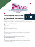Paris Courts Devant Terms and Conditions Short Films