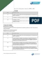Criterios Actualizados de Evaluación Interna NM y NS