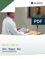 Datasheet MA41 MA42 Audiometer Spanish