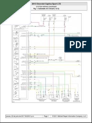 Chevrolet Captiva Fuse Box Diagram - Wiring Diagram