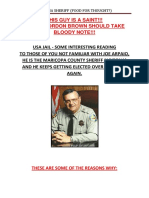 Arizona Sheriff (Food For Thought)