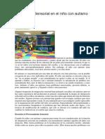 Integración Sensorial en El Niño Con Autismo