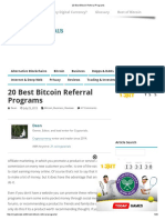 20 Best Bitcoin Referral Programs