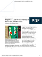 PepsiCo's Operations Management, 10 Decisions, Productivity - Panmore Institute