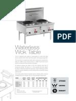 Waterless Wok Tables