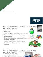 Toxicología Medicamentos