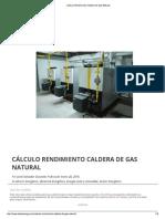 Cálculo Rendimiento de Calderas Con Gas Natural