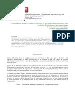 La Necesidad de Una Conducta Ética en El Proceso Administrativo. Una Revisión de Conceptos y Perspectivas