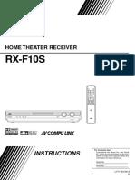 RX F10 Manual