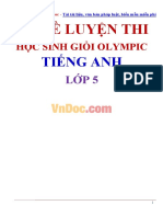 Bo de Luyen Thi Hoc Sinh Gioi Olympic Tieng Anh Lop 5