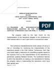 Resolutions Adopted in the Chief Justices' Conference, 2016