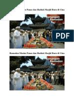 Ramadan Musim Panas Dan Hadiah Masjid Baru Di Cina