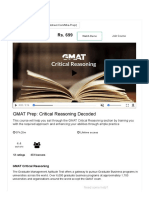 GMAT Critical Reasoning Preparation _ Online Tutorial _ ChalkStreet