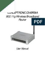 Router Conceptronic C54BRS4A USR MAN ENG
