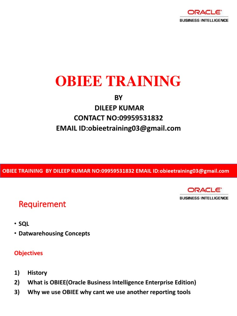 Obiee Demo | Oracle Database | Databases