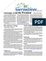 BC Conservatives August 2010 newsletter