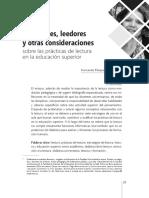 Vasquez F. de Lectores, Leedores y Otras Concepciones