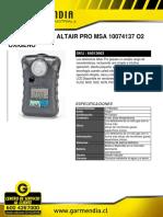Detector Gas Altair Pro Msa 10074137 o2 Oxigeno