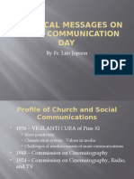 The Popes and Their World Communications Day Messages