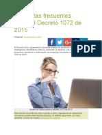 Algunos Aspectos Decreto 1072 de 2015