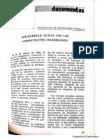 Solidaridad Activa Con Los Combatientes Colombianos. Rev. Doc. Politicos 49 May 1965_28