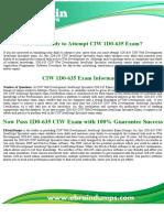 1D0-635 Dumps   CIW Web Development JavaScript Specialist Exam