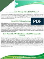 1Y0-370 Dumps | Citrix Designing Solutions Exam