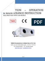 VHR Installation Operation & Maintenance Instruction Guide