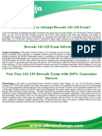 Brocade 143-130 Brocade Certified Architect for FICON Exam Dumps