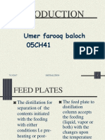 Feed Plate in Distillaiton_Umar Farooq.ppt